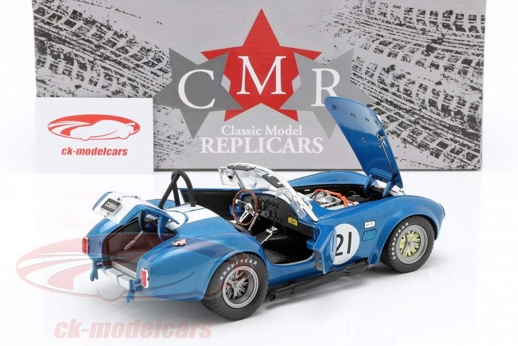 Shelby Cobra 427 Racing #21 blue / white 1:18 CMR