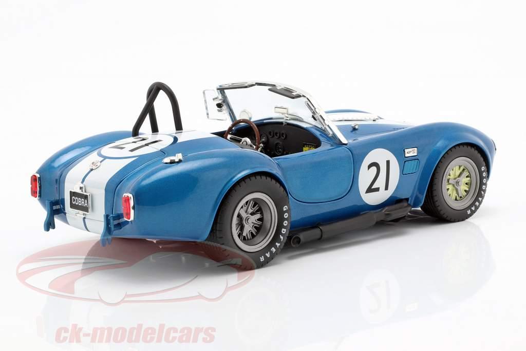 Shelby Cobra 427 Racing #21 1965 bleu / blanc 1:18 CMR