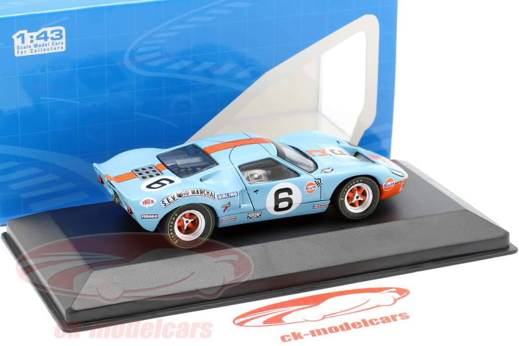 Ford GT40 Gulf #6 gagnant 24h LeMans 1969 Ickx, Oliver 1:43 Ixo