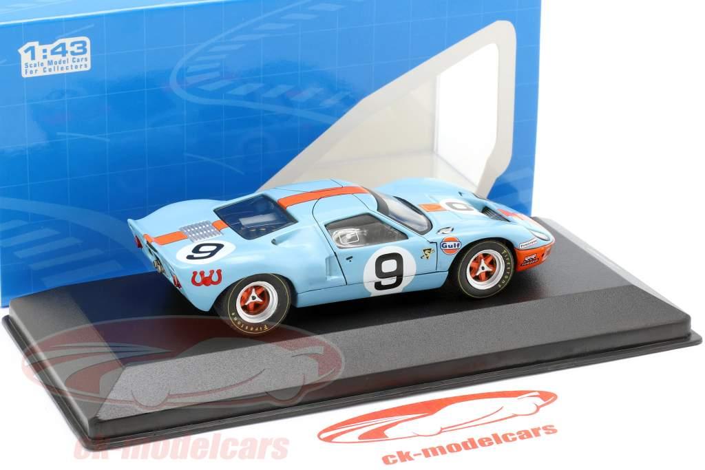 Ford GT40 Gulf #9 ganador 24h LeMans 1968 Rodriguez, Bianchi 1:43 Ixo