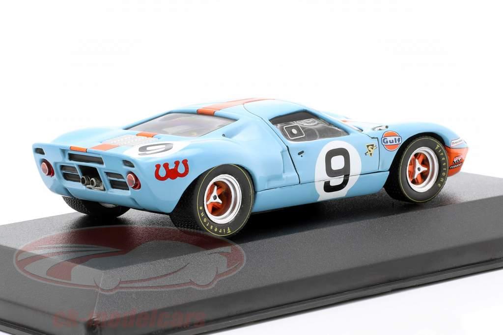 Ford GT40 Gulf #9 winnaar 24h LeMans 1968 Rodriguez, Bianchi 1:43 Ixo