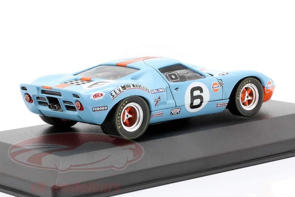 Ford GT40 Gulf #6 Vinder 24h LeMans 1969 Ickx, Oliver 1:43 Ixo