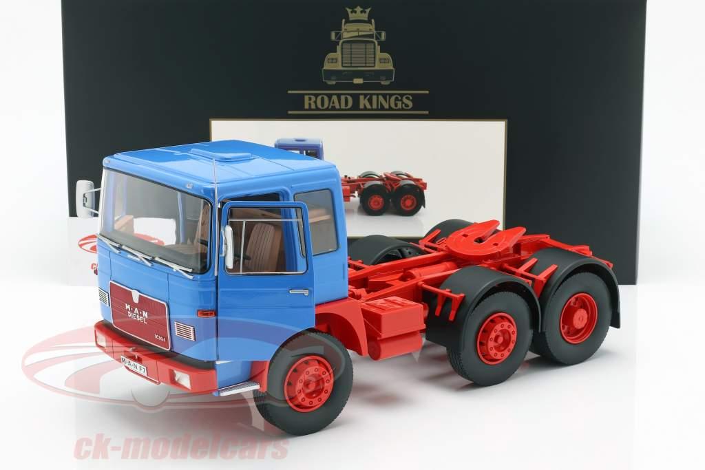 M.A.N. 16304 (F7) tractor año de construcción 1972 azul / rojo 1:18 Road Kings