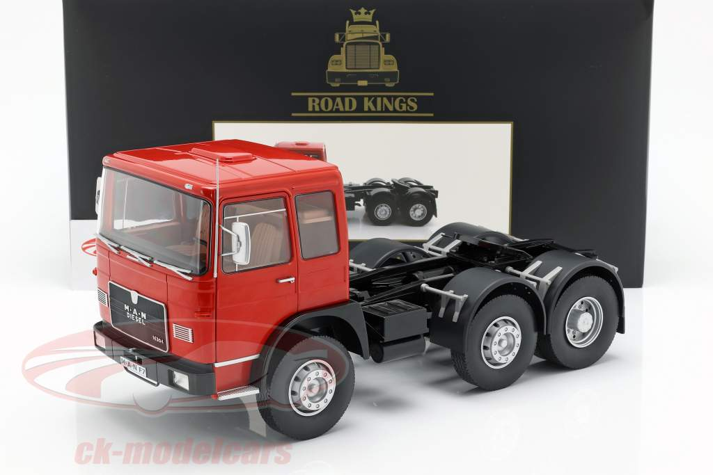M.A.N. 16304 (F7) Traktor Opførselsår 1972 rød / sort 1:18 Road Kings