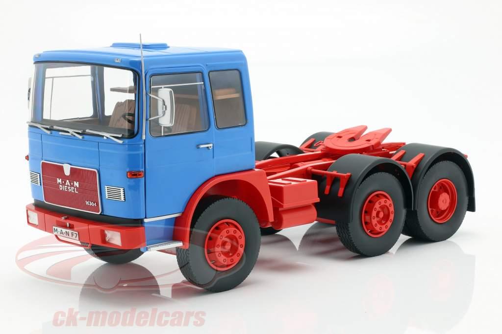 M.A.N. 16304 (F7) Sattelzugmaschine Baujahr 1972 blau / rot 1:18 Road Kings