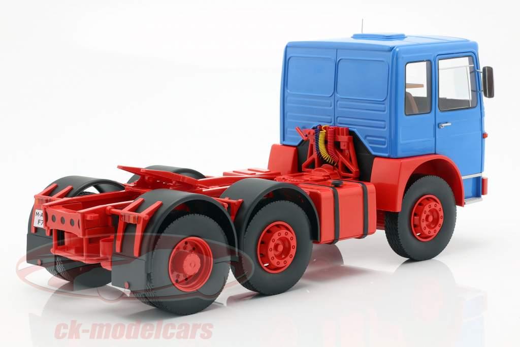 M.A.N. 16304 (F7) trator ano de construção 1972 azul / vermelho 1:18 Road Kings