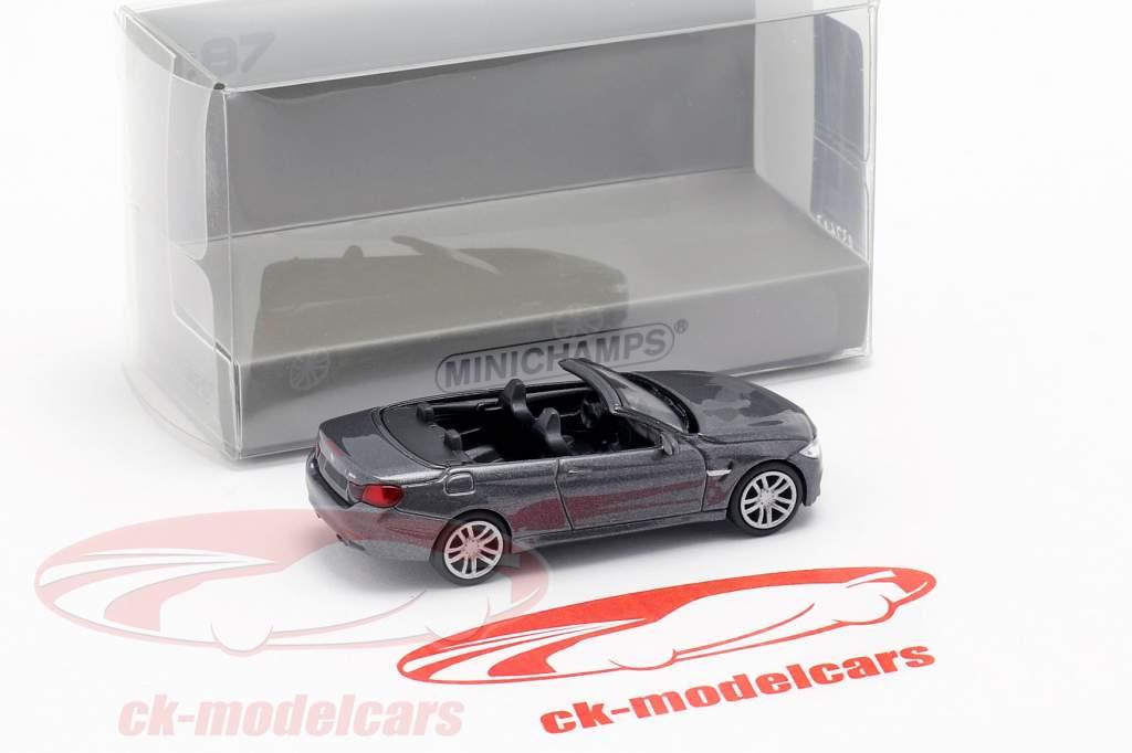 BMW M4 cabriolet année de construction 2015 gris métallique 1:87 Minichamps