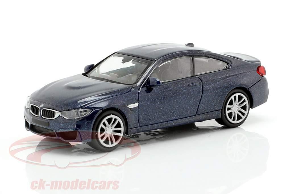BMW M4 coupé année de construction 2015 sombre bleu métallique 1:87 Minichamps