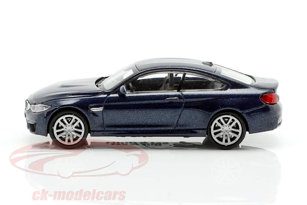 BMW M4 Coupe Baujahr 2015 dunkelblau metallic 1:87 Minichamps