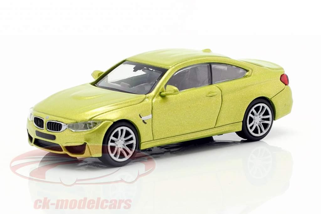 BMW M4 coupé année de construction 2015 jaune métallique 1:87 Minichamps
