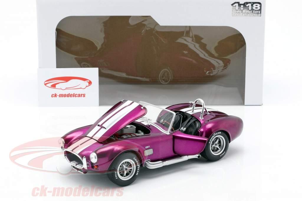 AC Cobra 427 MK2 ano de construção 1965 roxo / branco 1:18 Solido