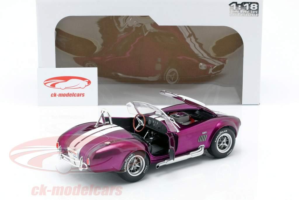 AC Cobra 427 MK2 año de construcción 1965 púrpura / blanco 1:18 Solido