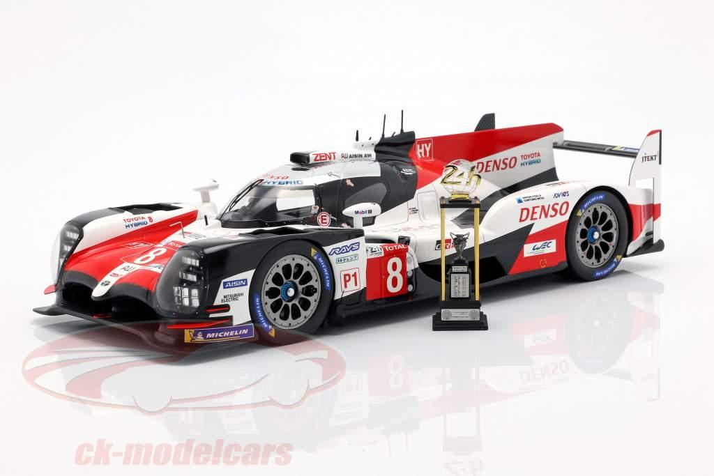 Toyota TS050 Hybrid #8 vincitore 24h LeMans 2018 Buemi, Nakajima, Alonso 1:18 Spark