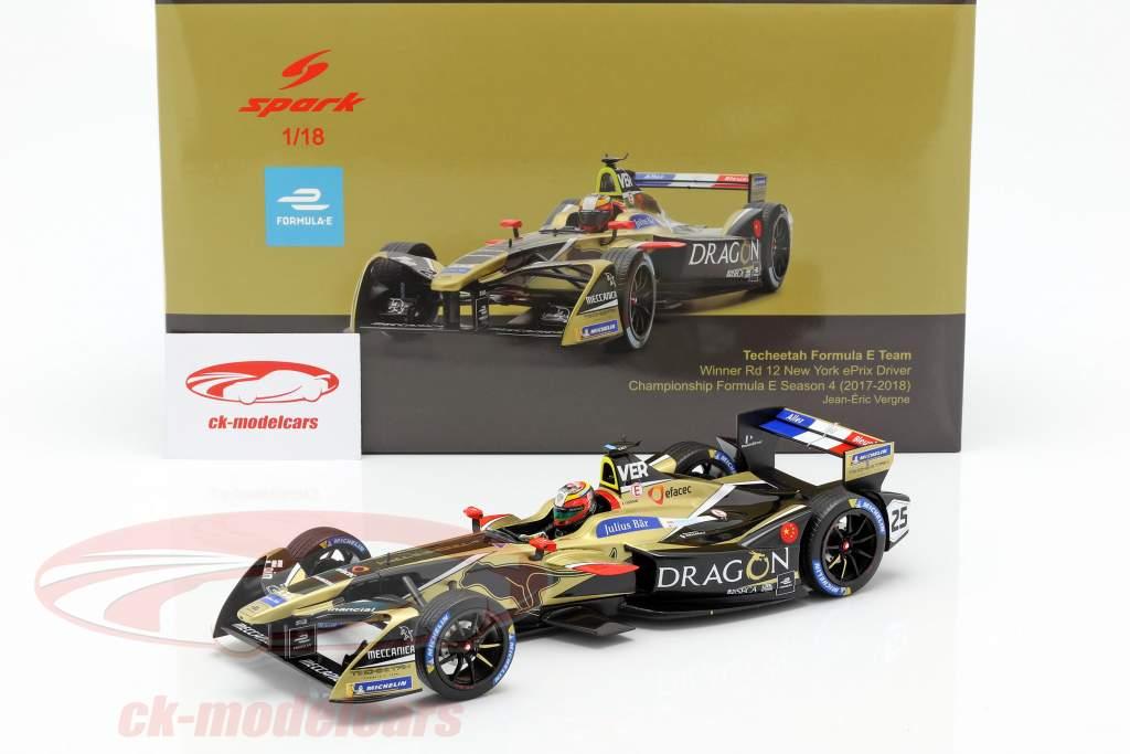 J.-E. Vergne Renault Z.E.17 #25 Winner New York Formel E 2017/18 1:18 Spark