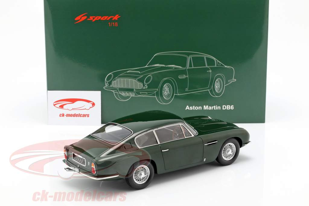 Aston Martin DB6 coupe Construction year 1965 dark green 1:18 Spark