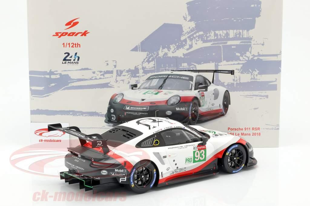 Porsche 911 (991) GT3 RSR #93 24h LeMans 2018 Pilet, Tandy, Bamber 1:12 Spark