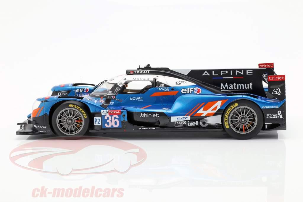 Alpine A470 #36 vincitore classe LMP2 24h LeMans 2018 1:18 Spark