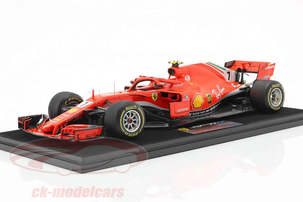 Kimi Räikkönen Ferrari SF71H #7 ganador EE.UU. GP fórmula 1 2018 1:18 LookSmart