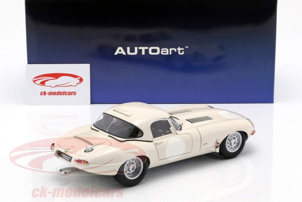 Jaguar Lightweight E-Type med aftagelig top hvid 1:18 AUTOart