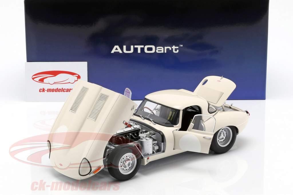 Jaguar Lightweight E-Type com removível topo branco 1:18 AUTOart