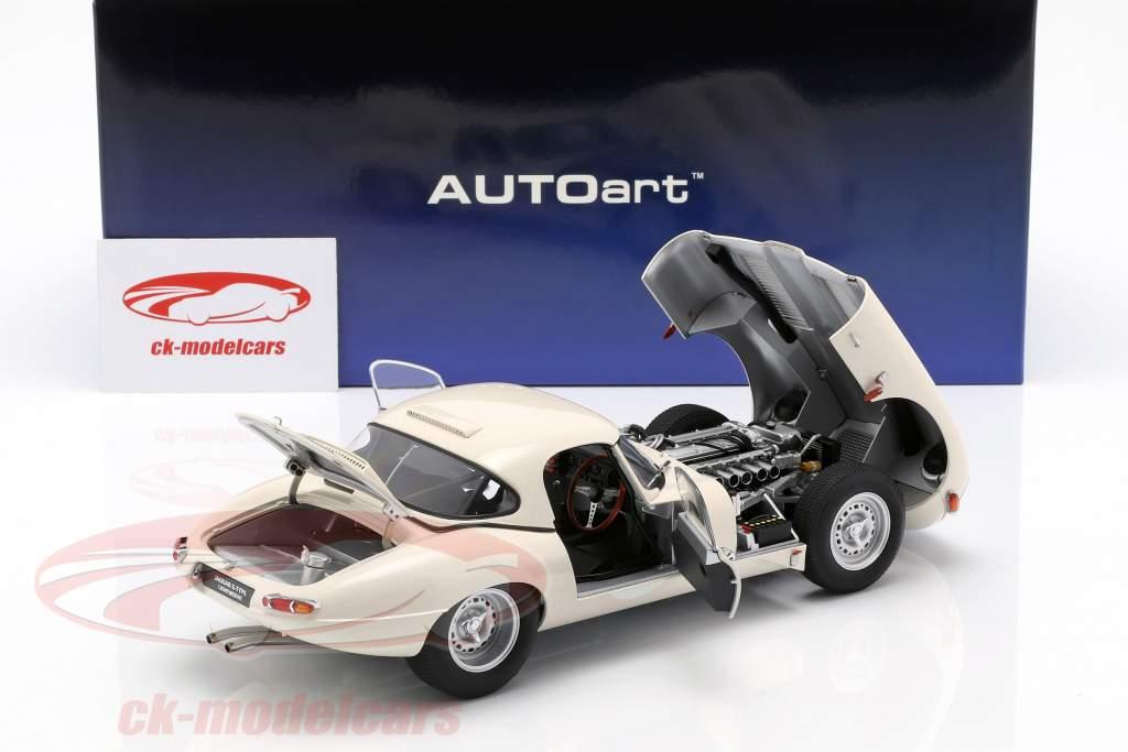 Jaguar Lightweight E-Type con removibile top bianco 1:18 AUTOart