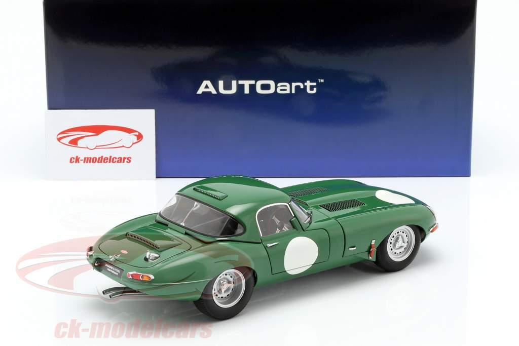 Jaguar Lightweight E-Type med aftagelig top mørkegrøn 1:18 AUTOart