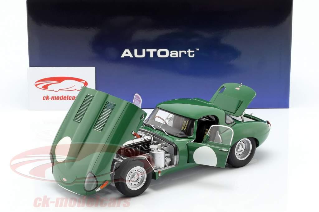 Jaguar Lightweight E-Type with removable Top dark green 1:18 AUTOart