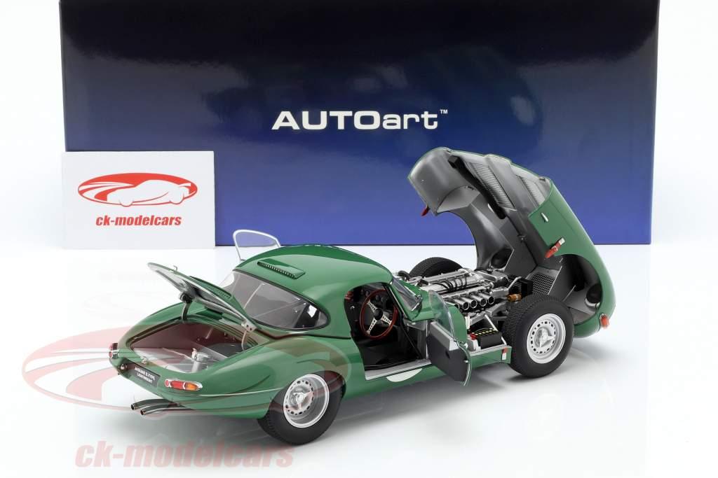 Jaguar Lightweight E-Type con removibile top verde scuro 1:18 AUTOart