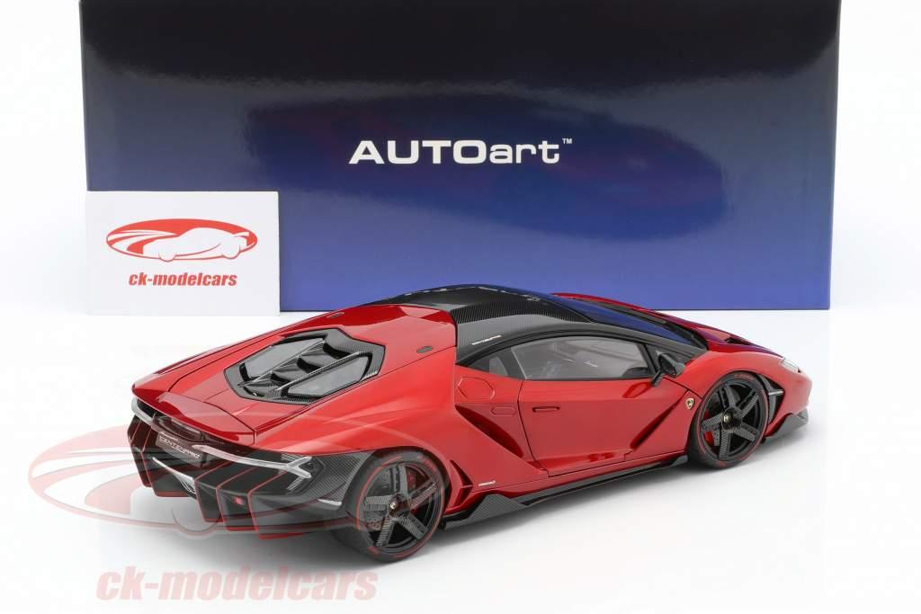 Lamborghini Centenario LP770-4 Opførselsår 2017 rød metallisk 1:18 AUTOart