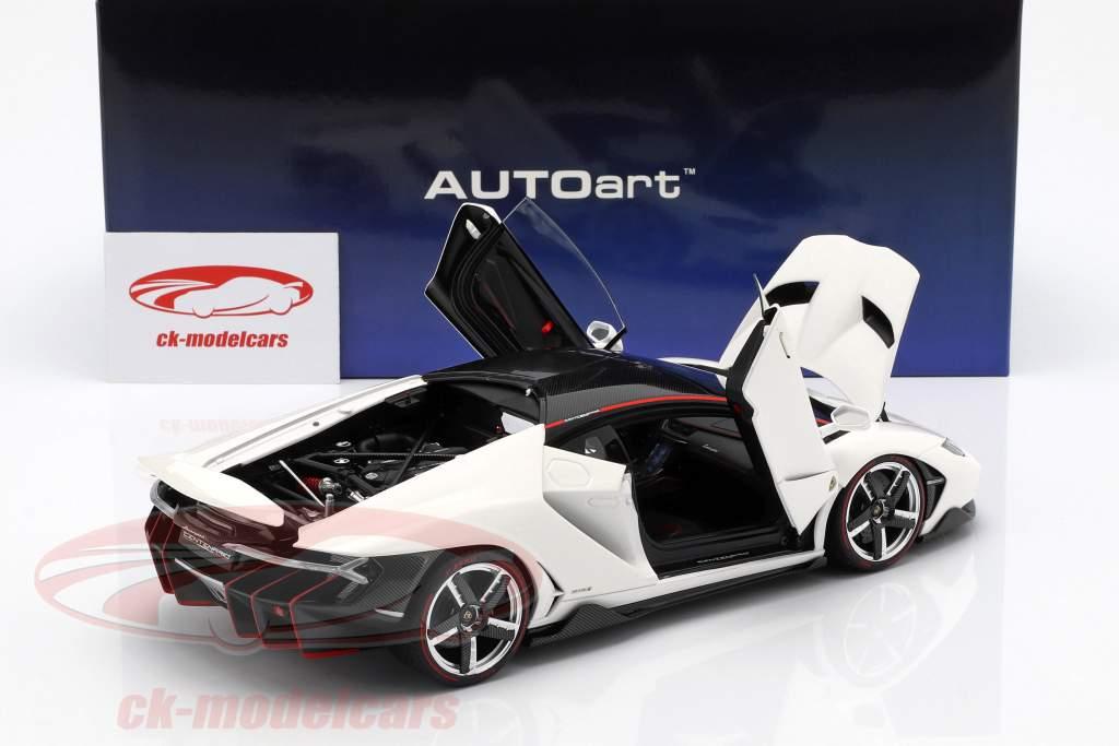 Lamborghini Centenario LP770-4 Bouwjaar 2017 solid wit 1:18 AUTOart