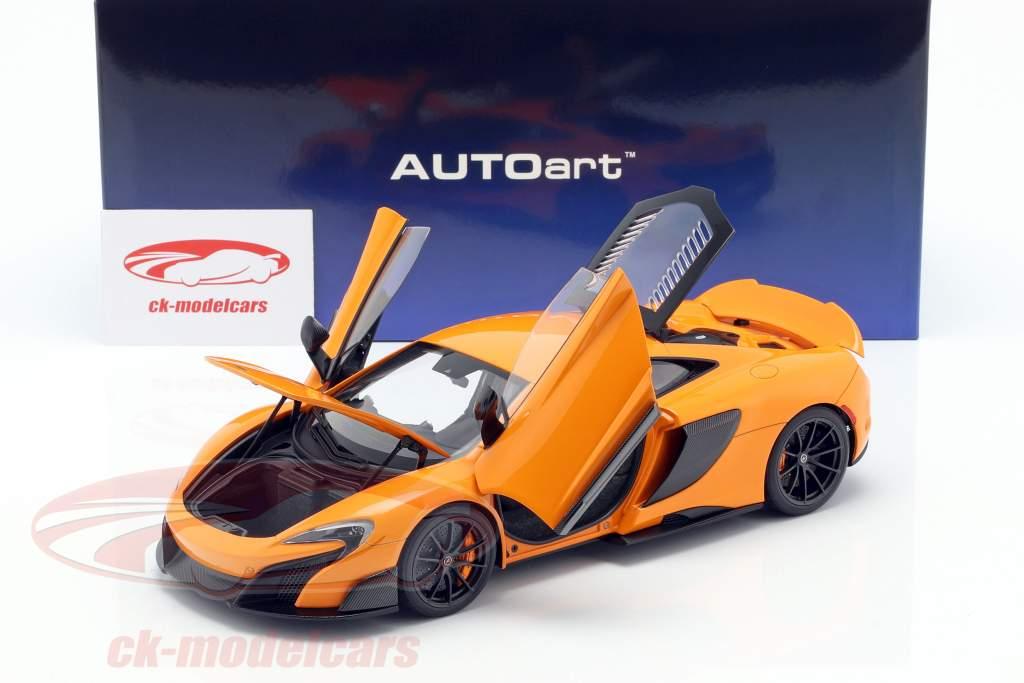 McLaren 675LT year 2016 McLaren orange 1:18 AUTOart