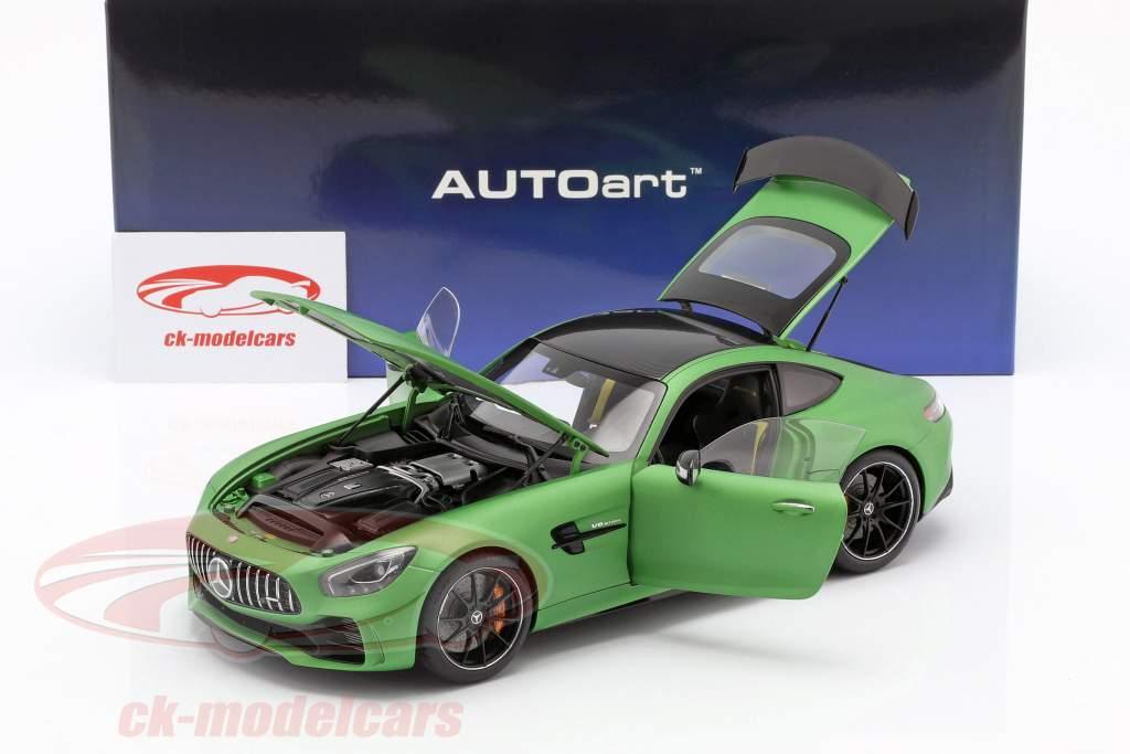 Mercedes-Benz AMG GT R anno di costruzione 2017 tappetino verde metallico 1:18 AUTOart