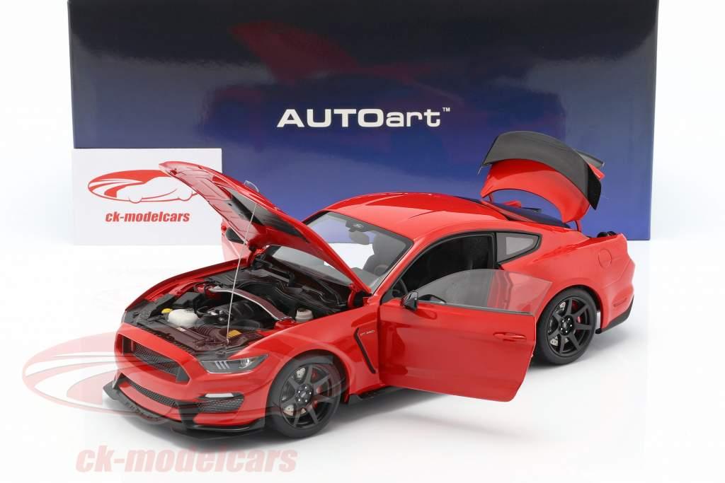 Ford Mustang Shelby GT350R anno di costruzione 2017 gara rosso 1:18 AUTOart