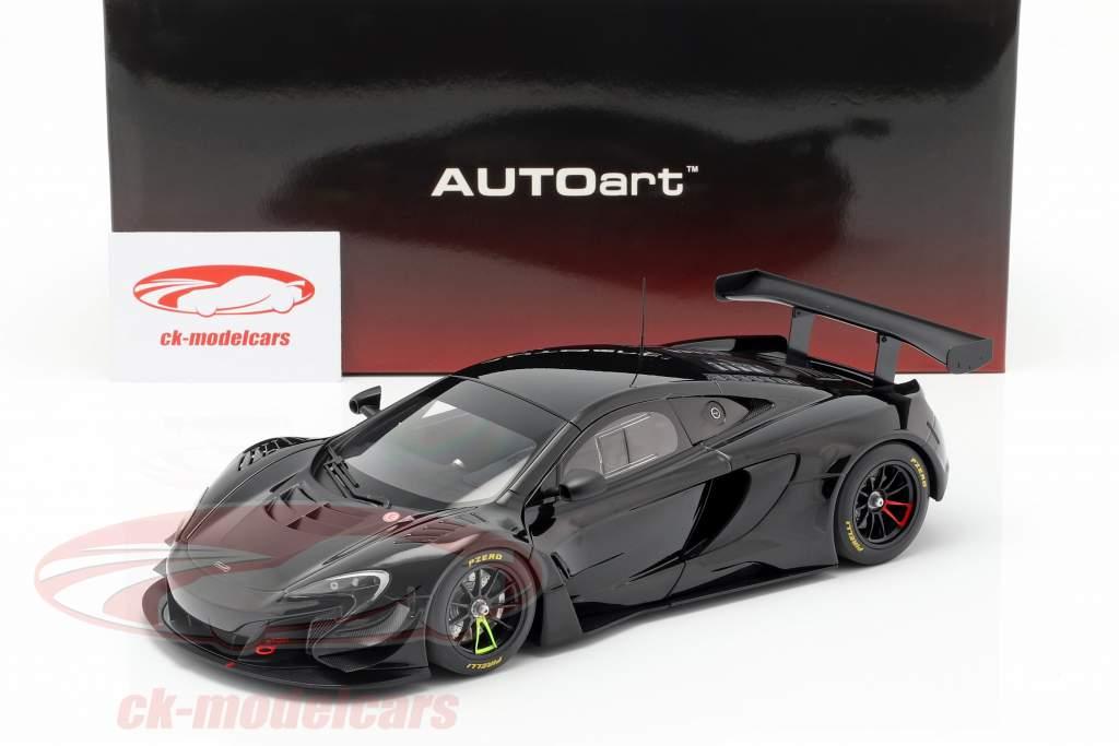McLaren 650S GT3 ano de construção 2017 lustro preto 1:18 AUTOart