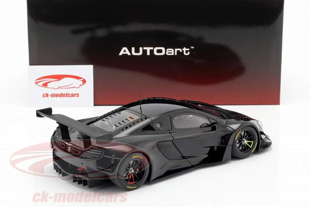 McLaren 650S GT3 Bouwjaar 2017 glans zwart 1:18 AUTOart