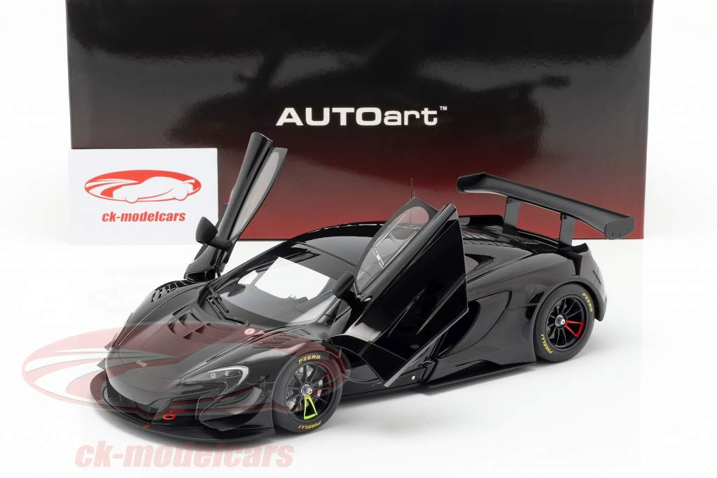 McLaren 650S GT3 Opførselsår 2017 gloss sort 1:18 AUTOart