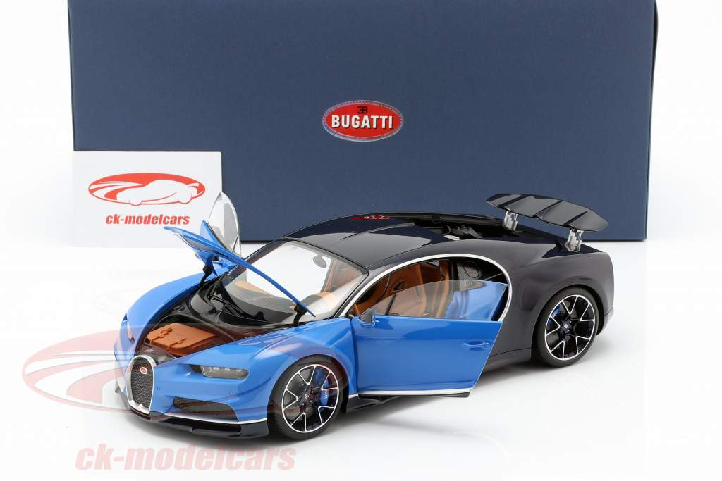 Bugatti Chiron Opførselsår 2017 french racing blå / atlantic blå 1:18 AUTOart