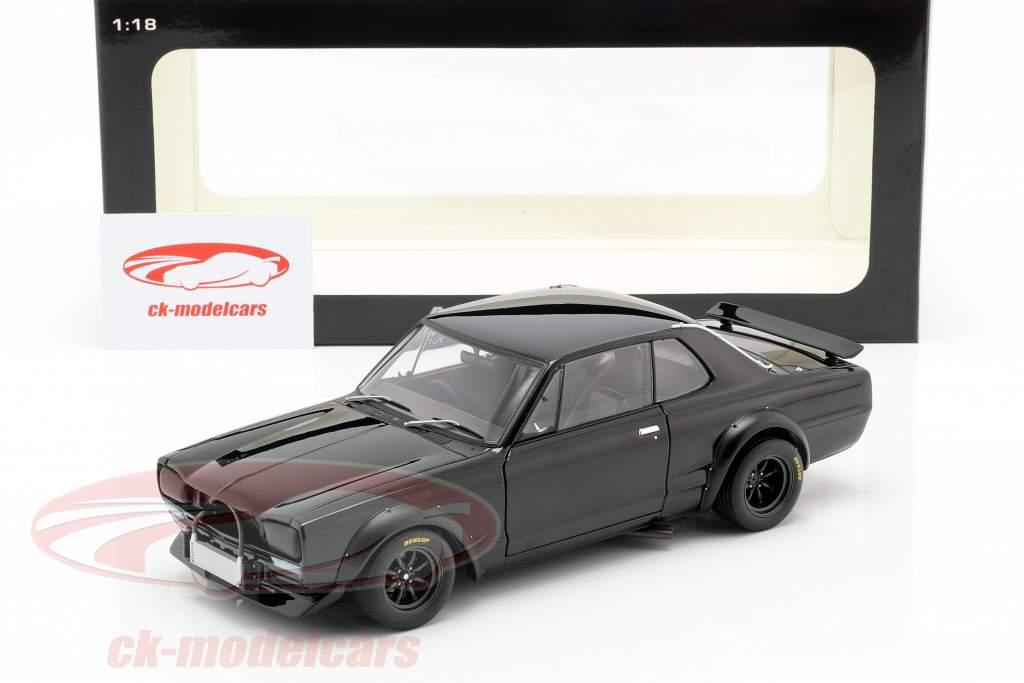 Nissan Skyline GT-R (KPGC-10) Racing Baujahr 1972 schwarz 1:18 AUTOart