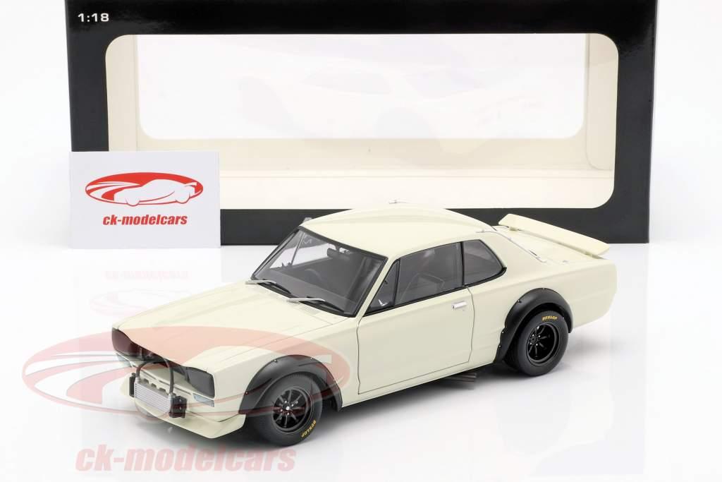 Nissan Skyline GT-R (KPGC-10) Racing anno di costruzione 1972 bianco 1:18 AUTOart