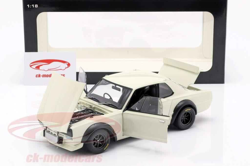 Nissan Skyline GT-R (KPGC-10) Racing Bouwjaar 1972 wit 1:18 AUTOart