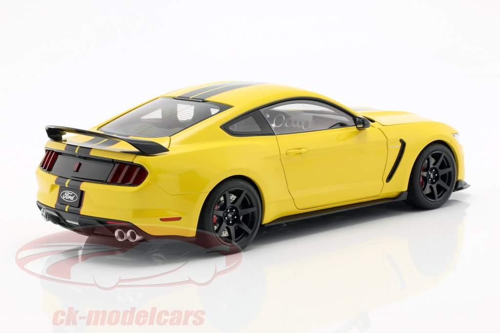 Ford Mustang Shelby GT350R ano de construção 2017 amarelo / preto 1:18 AUTOart