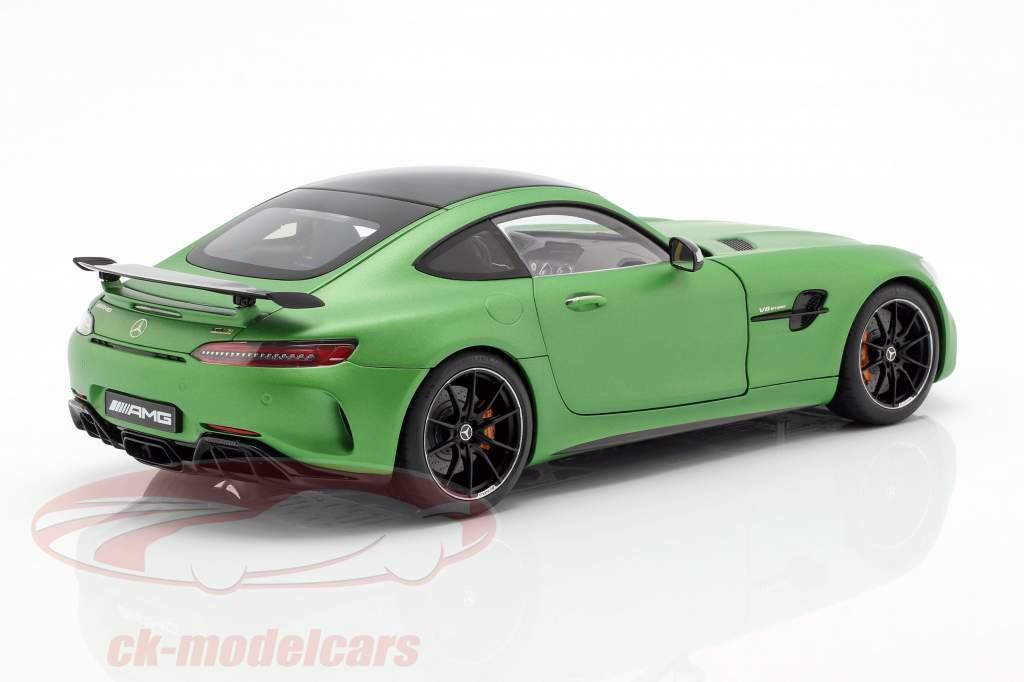 Mercedes-Benz AMG GT R Opførselsår 2017 måtten grøn metallisk 1:18 AUTOart