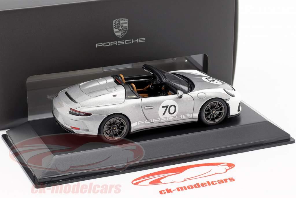 Porsche 911 (991 II) Speedster #70 Heritage Design Package 2019 prata 1:43 Spark