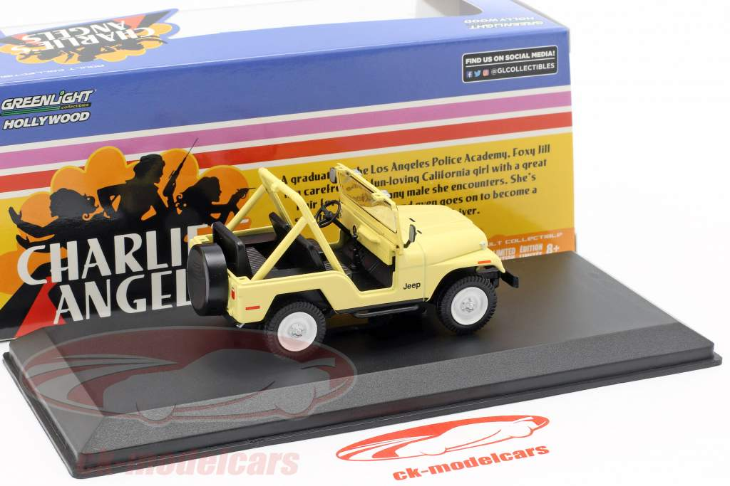 Julie Rogers' Jeep CJ-5 1980 Série TV Charlie's Angels (1976-81) beige 1:43 Greenlight