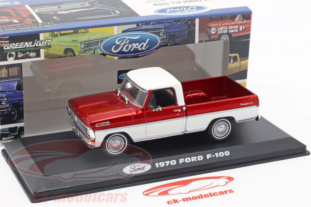 Ford F-100 Pick-Up caminhão ano de construção 1970 vermelho / branco 1:43 Greenlight