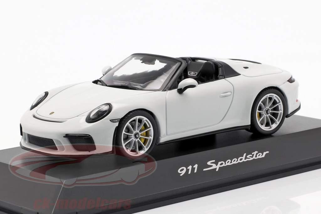 Porsche 911 (991 II) Speedster Bouwjaar 2019 wit 1:43 Spark
