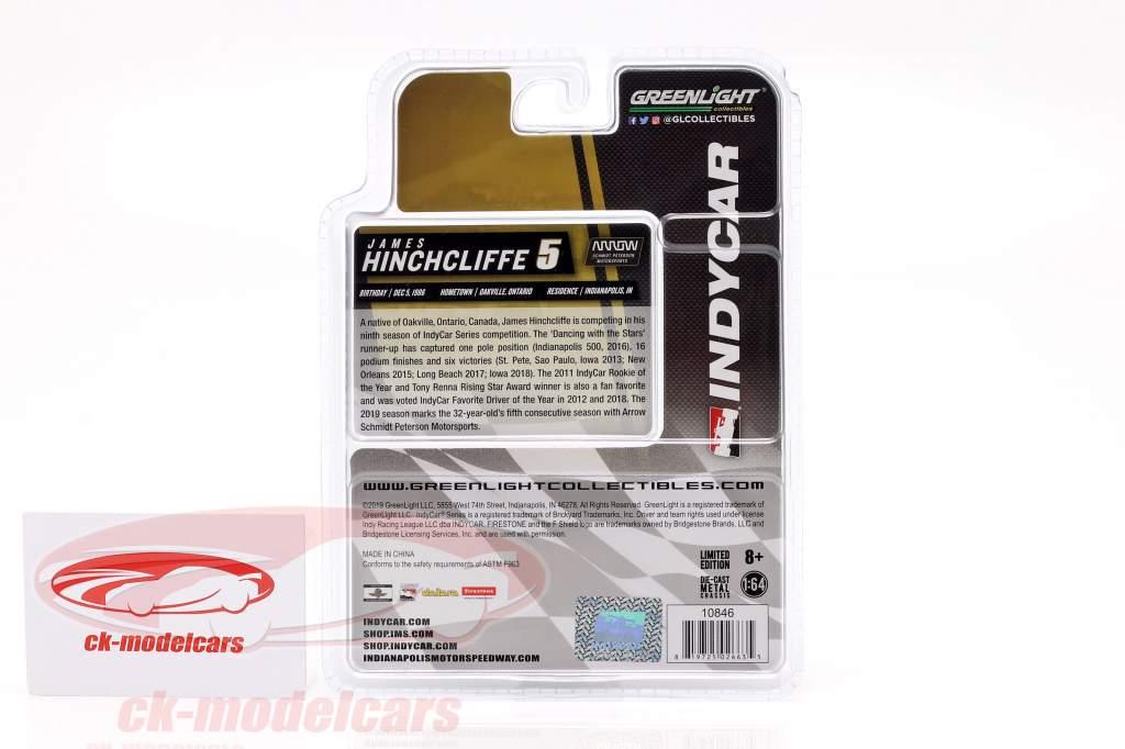 James Hinchcliffe Honda #5 Indycar Series 2019 Arrow Schmidt Peterson Motorsports 1:64 Greenlight