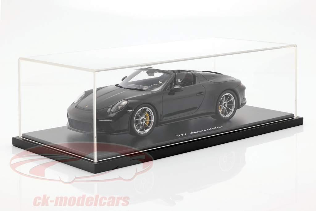 Porsche 911 (991 II) Speedster Opførselsår 2019 med udstillingsvindue sort 1:18 Spark