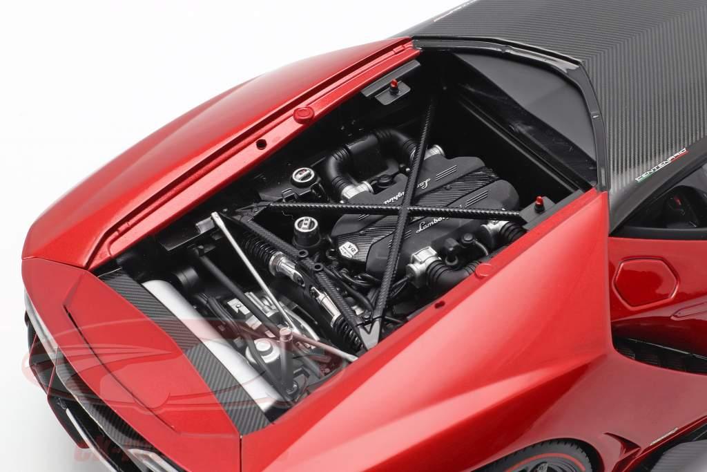 Lamborghini Centenario LP770-4 año de construcción 2017 rojo metálico 1:18 AUTOart