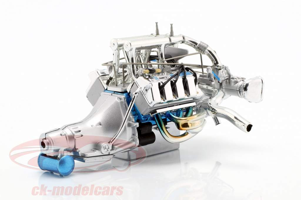 Ford Mustang Gasser Twin Turbo 429 Drag motor og transmission (GMP 18913) 1:18 GMP
